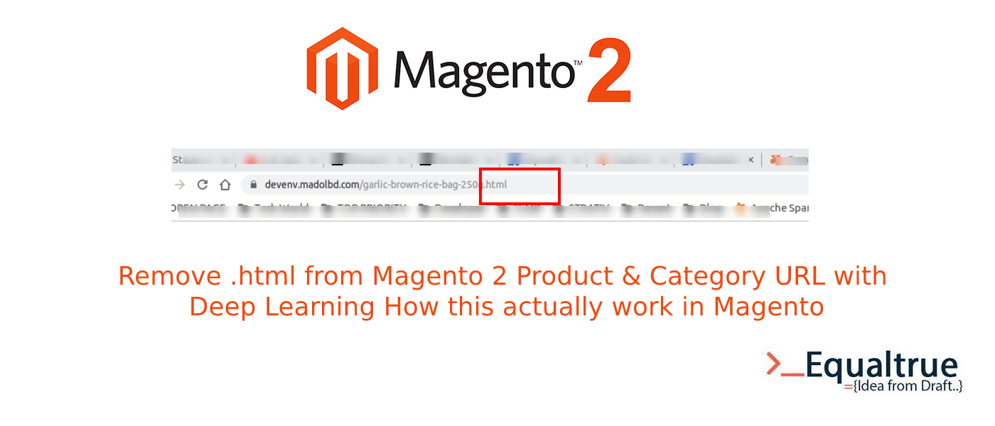 Magento 2 product & Category URL remove or edit or change .html
